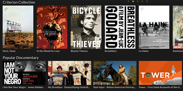 Criterion Collection on Kanopy streaming